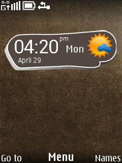 Oxside Clock Mobile Theme