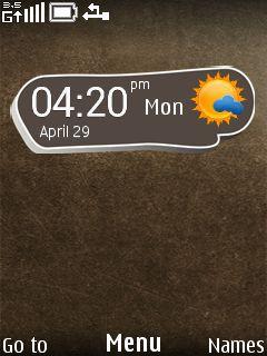 Oxside Clock Mobile Theme
