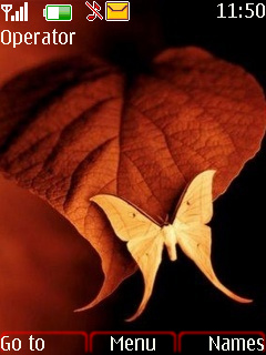 Leaf And Butterfly Mobile Theme