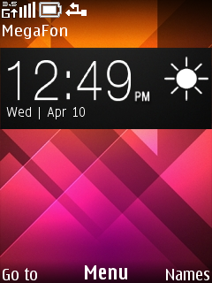 Abstract Colors Clock Mobile Theme