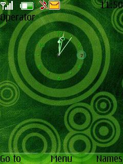 Swf Green Swirls Mobile Theme