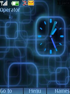 Flash Blue Analog Mobile Theme