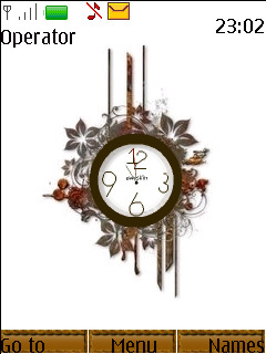 Swf Floral Abstract Clock Mobile Theme