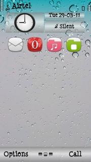 Drops Screen Mobile Theme