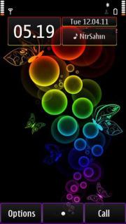 Rainbow Bubbles Mobile Theme