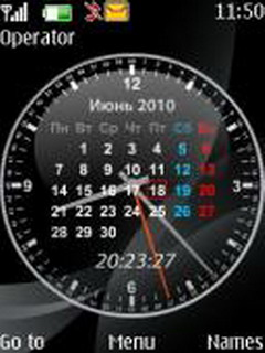 Calendar Clock S40 Theme Mobile Theme