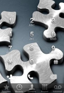 Puzzle Dialer IPhone Theme Mobile Theme