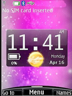 Pinky Htc Clock Nokia S40 Theme Mobile Theme