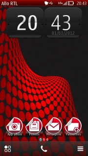 Red Circle S60v5 Nokia Theme Mobile Theme