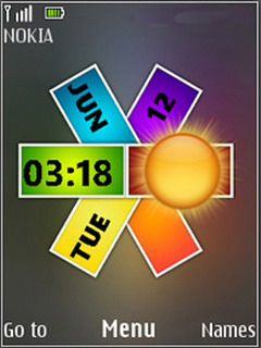 Nokia Colors Clock S40 Theme Mobile Theme