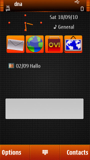 Fantasy Orange Nokia S60v5 Theme Mobile Theme