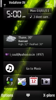 Green Drops 3D Nokia S60v5 Theme Mobile Theme