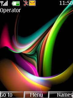 Digital 3D Colours Mobile Theme