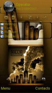 Smoking Kills S60v5 Theme Mobile Theme