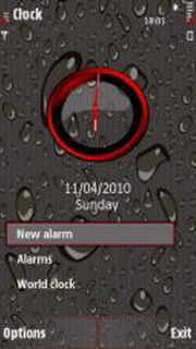 Wet Dark Brown S60v5 Theme Mobile Theme