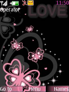 Pink Butterfly Love S40 Theme Mobile Theme