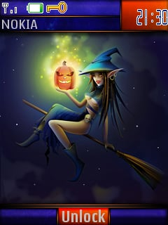 Halloween Babe S40 Theme Mobile Theme