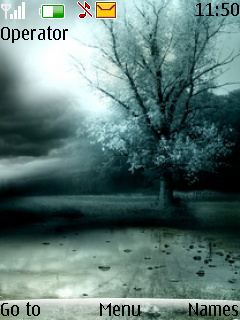 Lonely Night Tree S40 Theme Mobile Theme
