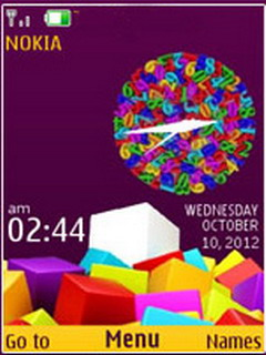 Colorful 3D Blocks S40 Theme Mobile Theme