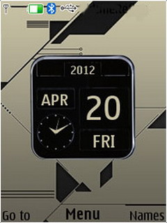 3D Design Nokia Clock S40 Theme Mobile Theme