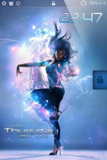 Neon Girl Dance IPhone Theme Mobile Theme