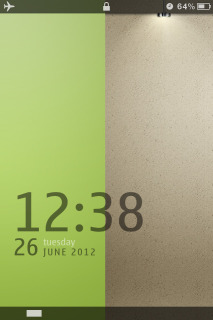 Abstract Colors Clock IPhone Theme Mobile Theme