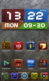 Silver Steel Clock Android Theme Mobile Theme