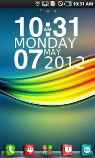 3D Colors Clock Android Theme Mobile Theme
