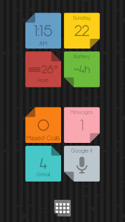 Color Papers Weather Clock Android Theme Mobile Theme