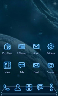 Future Space Blue Android Theme Mobile Theme