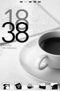 Cute Clock Coffee Android Theme Mobile Theme