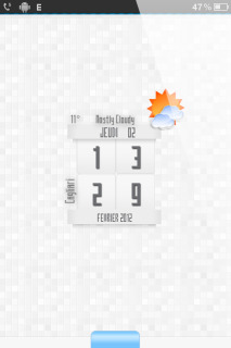 Mosaic Weather Clock IPhone Theme Mobile Theme