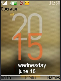 Nokia 3D Clock S40 Theme Mobile Theme