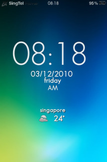 LS Colors Bright Clock IPhone Theme Mobile Theme
