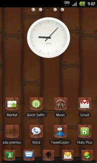 Wood Clock Icons Android Theme Mobile Theme