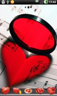 Music Note Heart Android Theme Mobile Theme