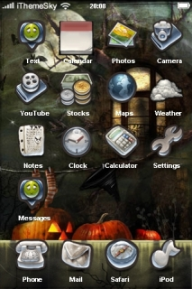 Halloween Ghost House IPhone Theme Mobile Theme