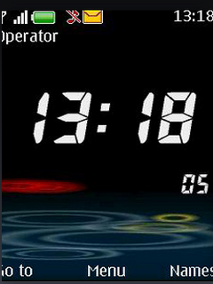 3D Digital Nokia Clock S40 Theme Mobile Theme