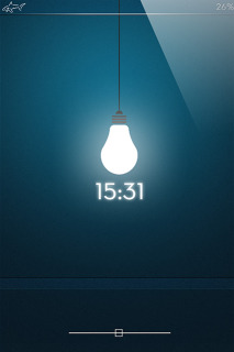 LS Bulb Clock IPhone Theme Mobile Theme