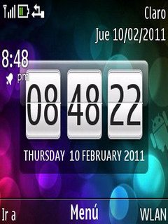 Android Clock Nokia C3 & X2-01 Theme Mobile Theme