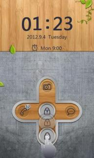 Open Locked Clock Android Theme Mobile Theme