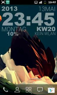 Abstract Mountain Red For Android Theme Mobile Theme