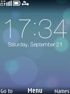 Blue Light Circle Clock S40 Theme Mobile Theme