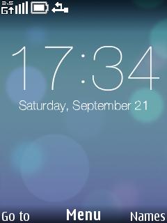 Blue Light Circle Clock S40 Theme Mobile Theme