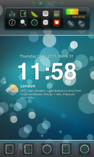 Bberry Blue Circle For Android Theme Mobile Theme