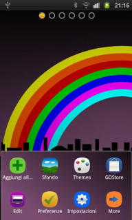 Rainbow Over City For Android Theme Mobile Theme