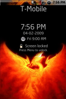 Fire Dragon Clock For Android Theme Mobile Theme