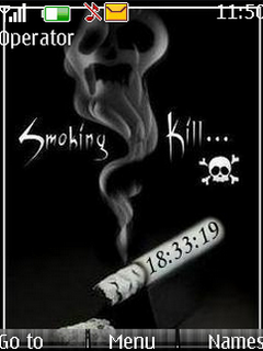 Smoking Kill Clock S40 Theme Mobile Theme