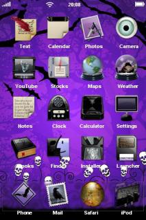 Purple Dark Birds IPhone Theme Mobile Theme