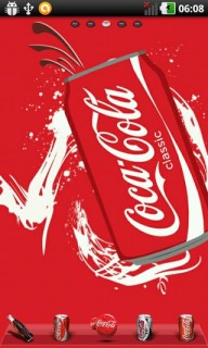 Coca Cola Drinks For Android Theme Mobile Theme